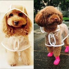Thin Puppy Dog Poncho Clothes Transparent Pet Raincoat Foldable Waterproof