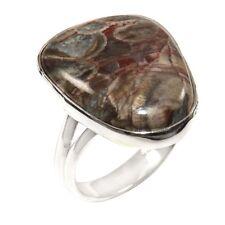 Mushroom Rhyolite Fashion Ring Solid 925 Sterling Silver Size 11 FSJ2673