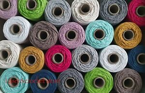 3mm Twisted Cotton Cord, Rope, Macrame, DIY Craft Home