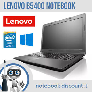 Notebook LENOVO B5400 Core i5-4200M Ram 4gb 8gb HDD SSD Smartworking DAD Webcam