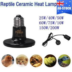 Ceramic Heat Lamp Infrared Reptile Emitter Heater Bulb For Brooder Coop Lizard