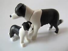 Playmobil Perro Collie & Cachorro-Dollshouse Mascotas/animales de granja NUEVO