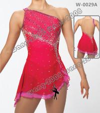 Adult Marvellous Ice Skating Figure skating Dress Gymnastics  Costume Red 2018
