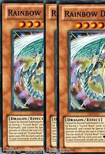Rainbow Dragon  RYMP X *3* RA YELLOW MEGA PACK Yugioh Common Cards