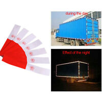 10P Truck Reflective Warning Decal Reflector Safety Strip Sticker Tape Red White