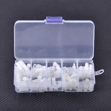 HOT 120pcs Assortment White Kit Nylon M3 Screws Hex Nut Standoff Spacers Column