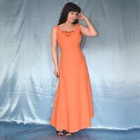 saftig orange COCKTAILKLEID* XS 34 * weiches Abendkleid mit Strass* Partykleid