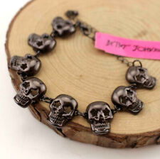Enamel Betsey Johnson Jewelry Rhinestone black skull Bracelet Europe and America