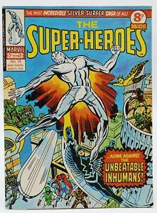 Super-Heroes (1975) #16 UK Reprint Silver Surfer #18 & X-Men #11 1st Stranger FN