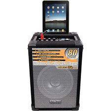 DJ Tech U Cube 85 MKII Portable PA System with IOS Dock 4 CH Mixer USB