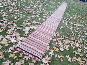 2 x 30.5 FT Extra Long and Narrow Handmade Staircase Turkish Kilim Rug  Runner
