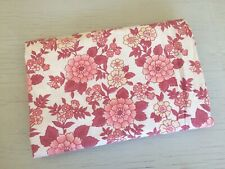 Sweet Floral Vintage Pink Retro Cotton SHEET Single Bedding FABRIC Sewing Crafts