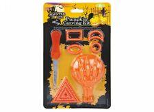 9 piezas Kit de talla de calabaza de Halloween Decoración de herramienta artesanía Jack-o linterna
