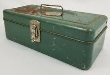 Vintage Steel Union Tackle Box Utility Chest Leroy Ny Usa