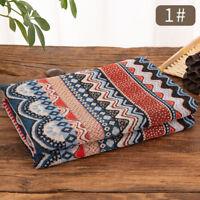 Stripe Tribal Fashion Fabric Floral Upholstery Curtains Boho Cotton Linen Retro