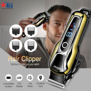 Professional Electric Men Hair Clipper Shaver Trimer Cutter Cordless Razor Comb