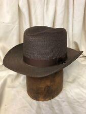 Stratton Self-Forming Men's Chocolate Brown Ranger/Officer Straw Hat - 7 5/8