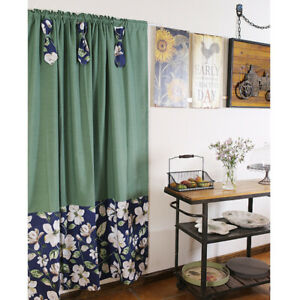 Country Printed Curtain Window Living Room Kitchen Corridor Door Blackout Drapes