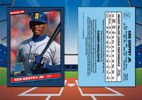 1986 Donruss Style KEN GRIFFEY JR. Custom Artist Novelty MLB Baseball Card