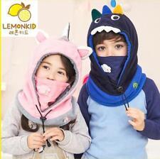 Winter Boys Girls Children Balaclava Face Cover Kids Outdoor Ski Mask Hat Scarf