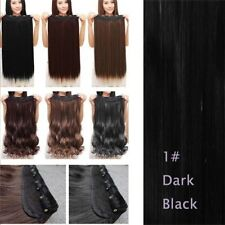 US 100% Real as Human Hair Clip in Half Full Head Hair Extensions Extentions AT9