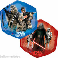 "23"" Star Wars The Force Awakens Red & Blue Party Foil Hexagon Supershape Balloon"