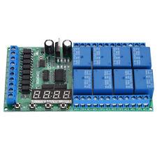 12V LED Relè Modulo 8CH Ritardo Interruttore Temporizzatore Regolabile Display