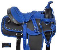 Western Barrel Racing Saddle Horse Blue Pleasure Trail Tack Pad 14 15 16 17 18
