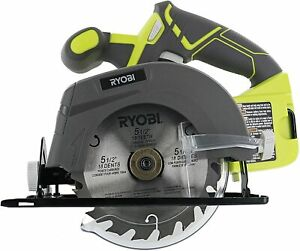 """New Ryobi GENUINE P505 5-1/2"""" 4,700 Cordless Circular saw with blade and wrench"""
