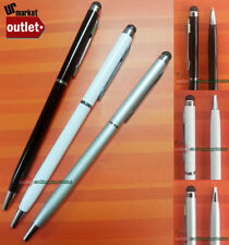 3x 2in1 Black White Silver Universal Touch Screen Stylus Pen for iPad NoteII S3