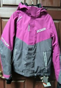 FXR Rush Jacket Wineberry Charcoal Size 8