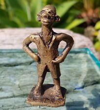 #20? antigüedades? africanos bronce personaje amarillo fundición Benín? ashanti 5,8cm alto