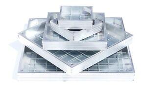 Aluminium Decorative Manhole Access Drain Cover - All Sizes - Double Sealed