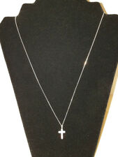 6.00ctw .925 Sterling Silver Genuine Crystal Cross W/925 Italy Stamped Chain
