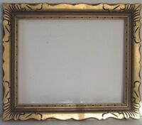 ANTIQUE HAND CARVED GILDED WOOD FRAME FOR PAINTING  15 1/2  X 12 1/2 inch