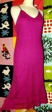 RENE DERHY ROBE DRESS CROCHET  FRAMBOISE 36/42