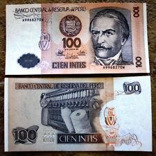 PERU 100 Intis UNC Banknote 1987