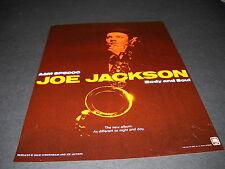 JOE JACKSON the new album BODY AND SOUL 1984 Music Biz Promo Display Ad