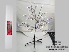 ARBOL DE 120 CM 100 LEDS BOLAS BLANCAS EXTERIOR (7582)