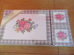 Vintage Top Table  Placemats Flowers  Mats & Coasters  New Sealed