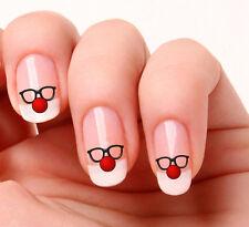 20 Nail Art calcomanías transferencias pegatinas # 744-Red Nose Day. Nariz Roja