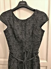 £500 DOLCE & GABBANA Tweed METALLIC Thread Boucle EVENING DRESS w BELTsize 42 IT