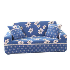 Dustproof Sofa Cover Couch Settee Slipcover 2-Seater Protector -Blue Floral