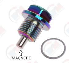 Hard Anodized Neo Chrome Aluminum MAGNETIC Oil Drain Plug ADP541 for Mitsubishi