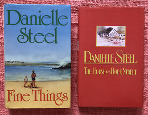 Danielle Steel - Fine Things & The House On Hope Street - Hardcover Books