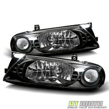 Fit 93-97 Altima JDM Black Crystal Direct Replacement Headlights Lamp Left+Right