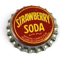 Vintage Fragola Soda Tappo Bottiglia USA Anni 1950 cappelli con visiera
