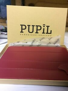 Leather cover IPAD AIR 2model Prefect by Pupil (made in Cambridge) SCARLET