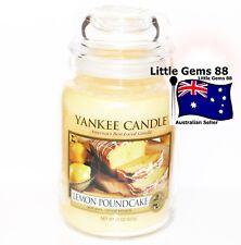 Yankee Candle Lemon Pound Cake 22oz Large Scented Glass Jar Candle 150 Hours