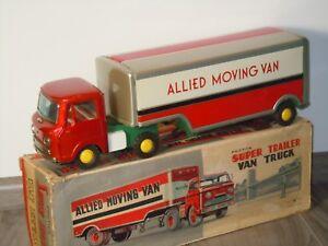 Super Trailer Van Truck - Allied Moving Van - Yonezawa 10791 Japan in Box *36551